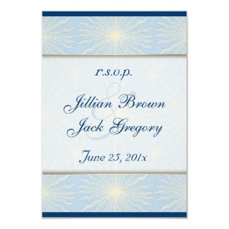 Silk Tones Blue Wedding RSVP Card
