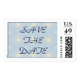 Silk Tones Blue WEDDING Save The Date Stamp