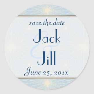 Silk Tones WEDDING Save The Date Classic Round Sticker
