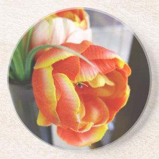 Silk Tulip Beverage Coaster