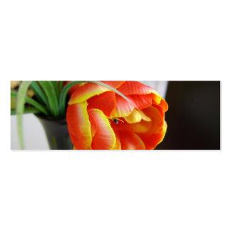 Silk Tulip Bookmark Business Card Templates