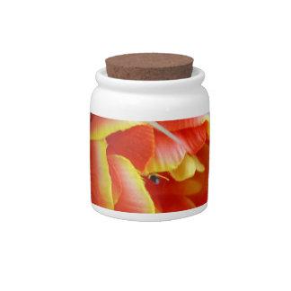 Silk Tulip Candy Jar