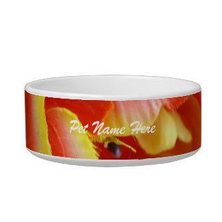 Silk Tulip Cat Water Bowls