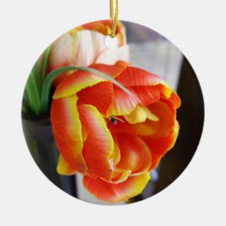 Silk Tulip Christmas Ornaments
