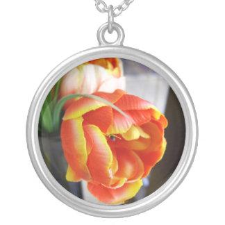 Silk Tulip Personalized Necklace