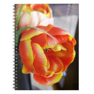 Silk Tulip Spiral Note Book