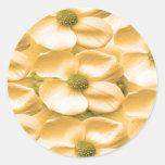 Silken Dreams Floral Celebrations Round Sticker