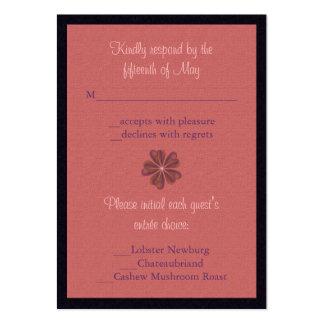 Silken Flowers Wedding Large Business Cards (Pack Of 100)