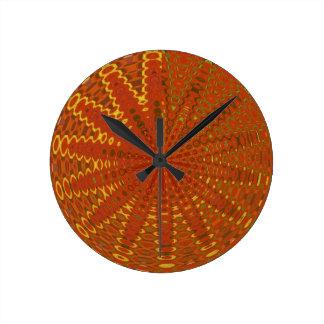 Silken Golden Threads: Rich Diva Style ORIENTAL GI Round Wall Clock