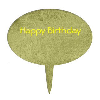 Silken Green Earth - Happy Birthday down-to-earth Cake Picks