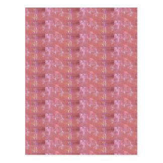 SILKEN Pink Weave Graphic Pattern Postcard