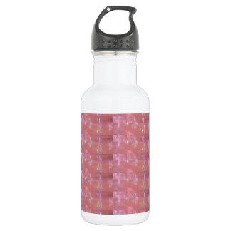 SILKEN Pink Weave Graphic Pattern Water Bottle
