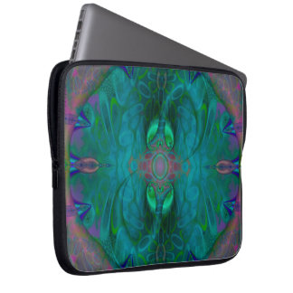 Silken Portals Psychedelic Abstract Laptop Sleeve