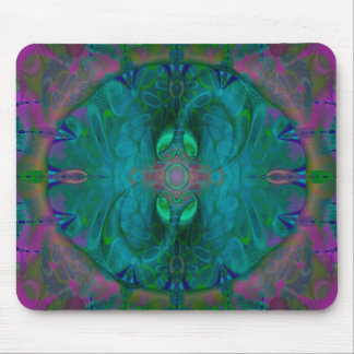 Silken Portals Psychedelic Abstract Mouse Pad