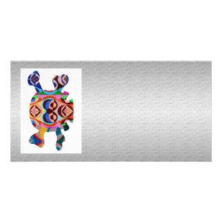 Silken Silver Base n Art101 Graphic Skull  Image Card