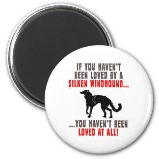 Silken Windhound 2 Inch Round Magnet