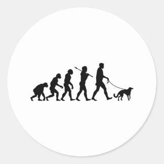 Silken Windhound Classic Round Sticker