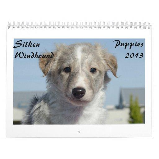 Silken Windhound Puppies 2013 Wall Calendars