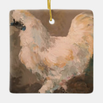 Silkie Chicken Farmhouse Christmas Tree Ornament