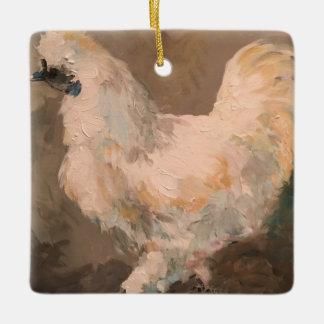 Silkie Chicken Farmhouse Christmas Tree Ornament