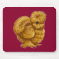 silkie chicken hen buff mouse pad
