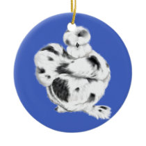 silkie,chicken,paint ,hen,chick,sassy ceramic ornament