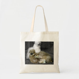 Silkie Chickens with Chicks Magnets Canvas Bag