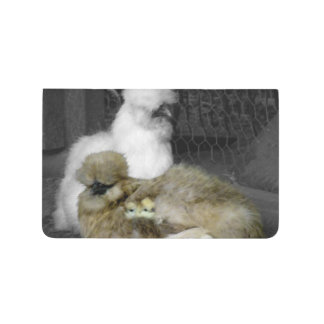 Silkie Hens with Chicks Peeking out of Feathers Journal