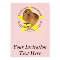 Silkie Red Chick Star Card