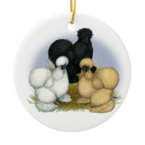 Silkie Trio Ceramic Ornament