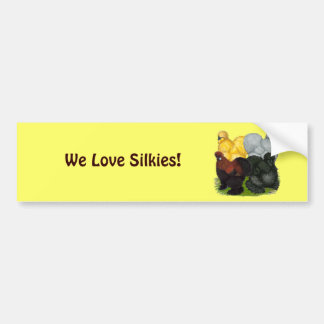 Silkies:  Assorted Roosters Bumper Sticker
