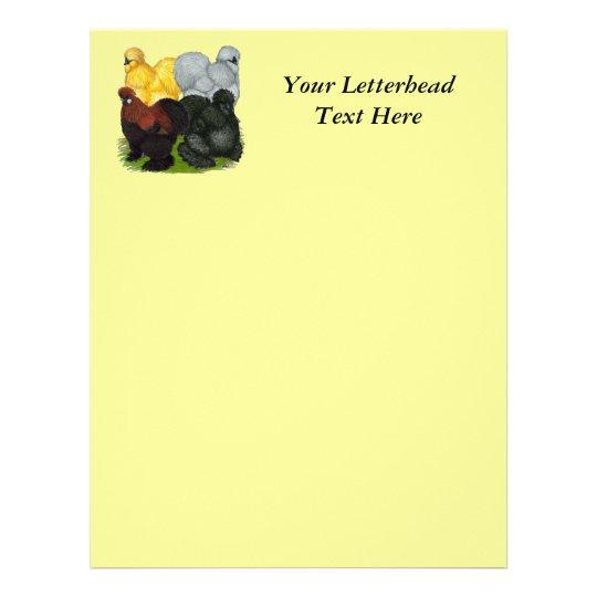 Silkies:  Assorted Roosters Letterhead