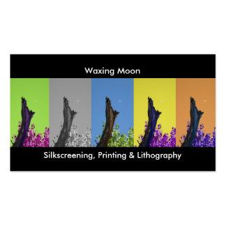 Silkscreening, imprimiendo y luna de tarjetas de visita