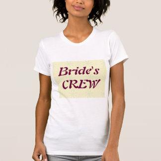 Silktones Cream Bride's Crew t-shirt