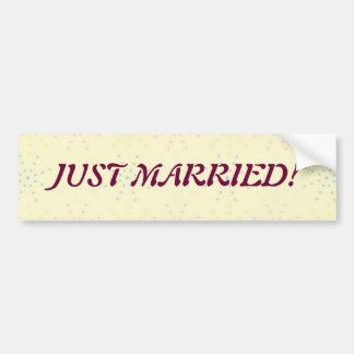 Silktones Cream Wedding Car Bumper Sticker