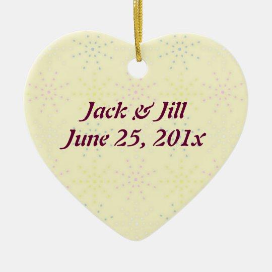 Silktones Cream Wedding Ceramic Ornament