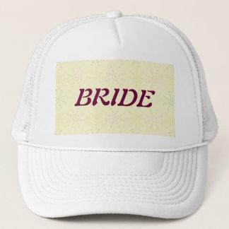 Silktones Cream Wedding Trucker Hat