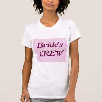 Silktones Dot Stream Bride's Crew t-shirt