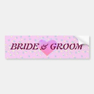 Silktones Dot Stream Wedding Car Bumper Sticker