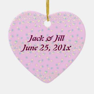 Silktones Dot Stream Wedding Ceramic Ornament