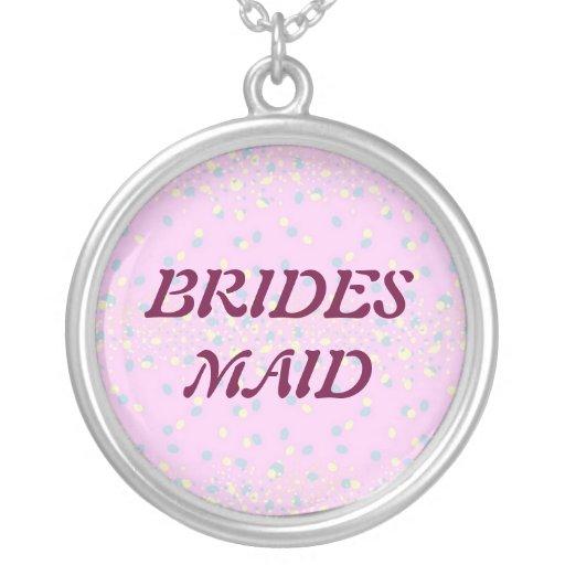 Silktones Dot Stream Wedding Custom Necklace