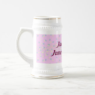 Silktones Dot Stream Wedding mug