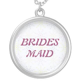 Silktones Dotty White Wedding Pendants