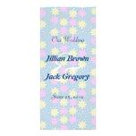 Silktones Millefiori Wedding Program Full Color Rack Card