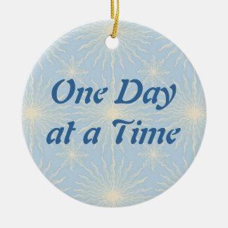 Silktones Sun Star ODAT Double-Sided Ceramic Round Christmas Ornament