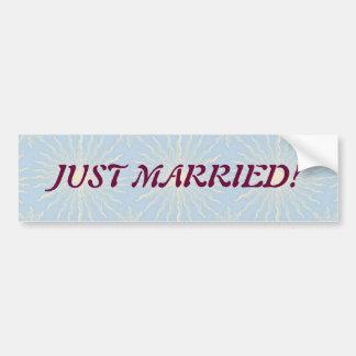 Silktones Sunstar Wedding Car Bumper Sticker