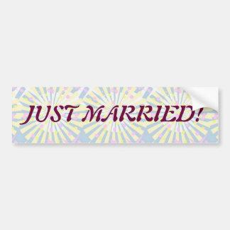 Silktones Whirlies Wedding Car Bumper Sticker