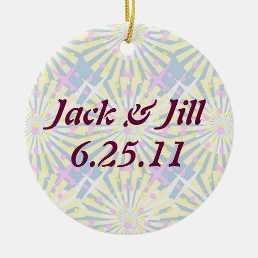 Silktones Whirlies Wedding Ceramic Ornament