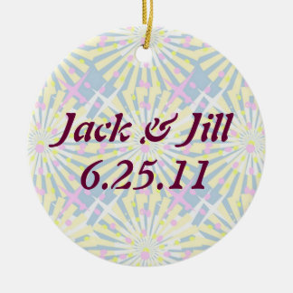 Silktones Whirlies Wedding Double-Sided Ceramic Round Christmas Ornament