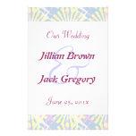 Silktones Whirlies Wedding Program Full Color Flyer